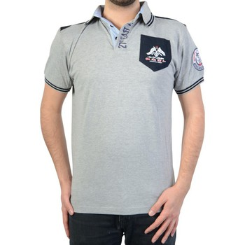 Vêtements Homme Polos manches courtes Geographical Norway Polo  Kalipso DD Men 100 Gris Gris