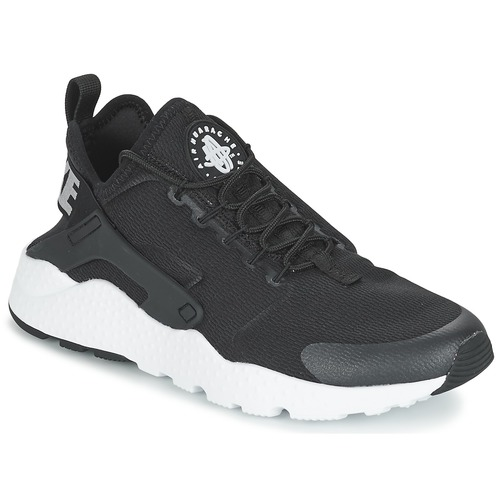 Nike AIR HUARACHE RUN ULTRA W Noir / Blanc - Chaussures Baskets basses Femme