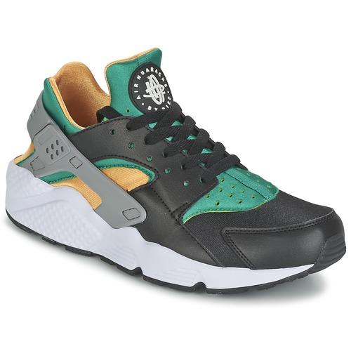 Chaussures Homme Baskets basses Nike AIR HUARACHE RUN Noir / Jaune / Vert