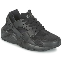 Chaussures Enfant Baskets basses Nike HUARACHE RUN JUNIOR Noir