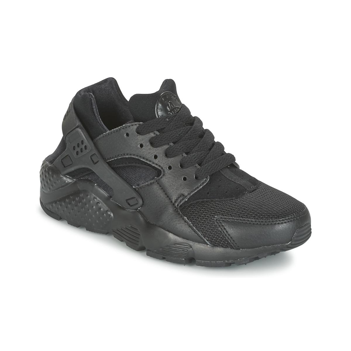 Nike HUARACHE RUN JUNIOR Noir