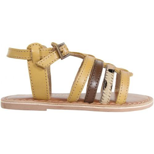 Chaussures Fille Sandales et Nu-pieds MTNG 83509 Beige