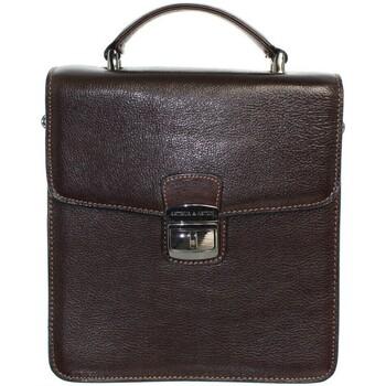 Sacs Homme Pochettes / Sacoches Arthur & Aston Sacoche Arthur et Aston en cuir ref_ast39311-D-moka Marron