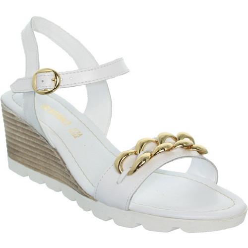 Chaussures Femme Sandales et Nu-pieds Samoa Talons compensés  ref_sam39483-blanc Blanc