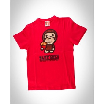 Vêtements Homme T-shirts manches courtes Baby Milo Tshirt  Fries Brown Fushia Rose