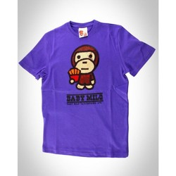 Vêtements Homme T-shirts manches courtes Baby Milo Tshirt  Fries Brown Violet Violet