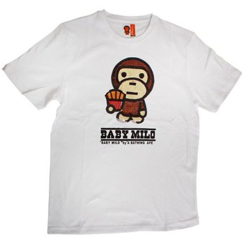 Vêtements Garçon T-shirts & Polos Baby Milo Tshirt  Fries Brown Blanc Blanc