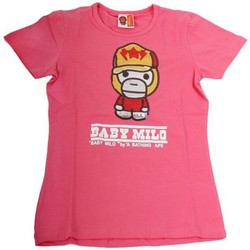 Vêtements Fille T-shirts & Polos Baby Milo Tshirt  Fille Cap Rose Rose