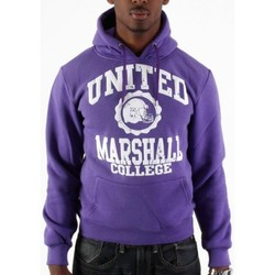 Sweats Divers Sweat capuche Marshall violet, blanc