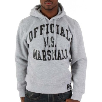 Sweats Divers Sweat capuche Marshall US Gris, Noir