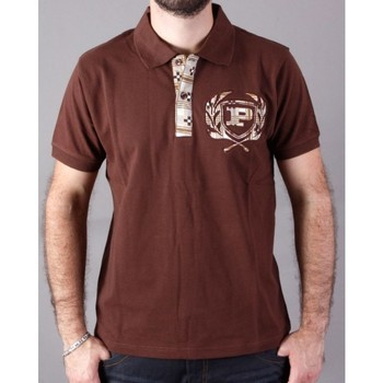 Vêtements Homme Polos manches courtes Phat Farm Polo  OFF Marron Chocolat