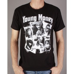 Vêtements Homme T-shirts manches courtes Divers Tshirt Young Money noir Noir