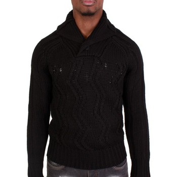 Pulls Divers Pull Crossby col montant noir