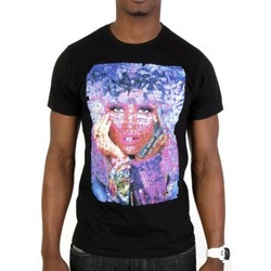 Vêtements Homme T-shirts manches courtes Cash N'day Tshirt Hidden Face Lady Gaga Noir Noir