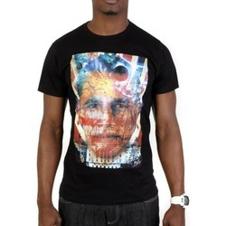 Vêtements Homme T-shirts manches courtes Cash N'day Tshirt Hidden Face Obama Noir Noir