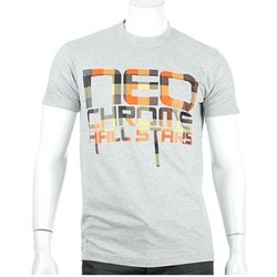 T-shirts manches courtes Neochrome Tshirt  Plaid orange Gris