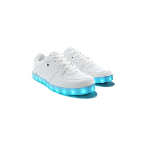 Chaussures Homme Baskets mode Cash Money Baskets LED  CMS37 Lightlord Blanc Blanc