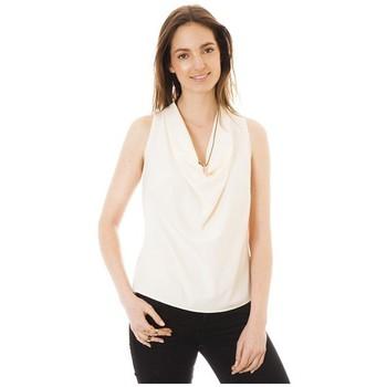 Vêtements Femme Débardeurs / T-shirts sans manche Little Marcel Débardeur Tina Ecru Blanc