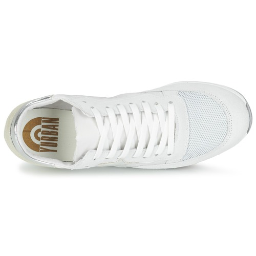 Chaussures Yurban Baskets BlancBeige Basses Femme Fillio qUzVSMp