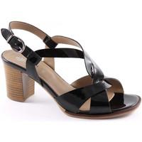 Sandales et Nu-pieds Igi&co IGI & CO 18720 verni noir à talons en cuir sandales chaussures f