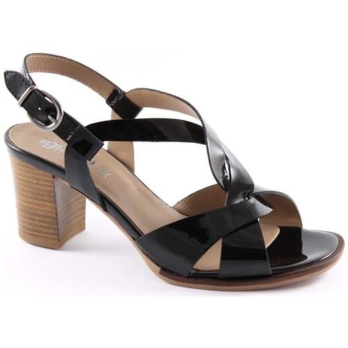 Chaussures Femme Sandales et Nu-pieds Igi&co IGI & CO 18720 verni noir à talons en cuir sandales chaussures f Nero