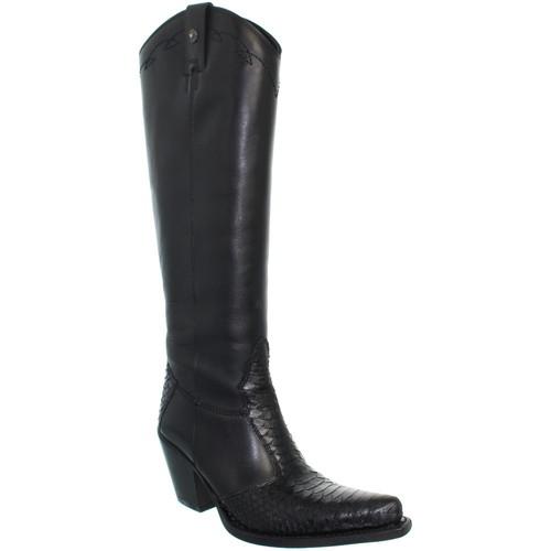 Chaussures Femme Bottes ville Sancho Boots Bottes  en cuir ref_san26580 Noir