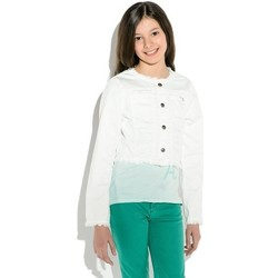 Vêtements Fille Vestes / Blazers Guess veste courte LS JACKET Blanc Blanc