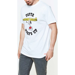 Vêtements Homme T-shirts manches courtes Tsptr Tee Shirt  Surfs Up White Blanc Homme Blanc