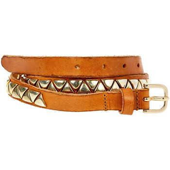Ceinture 7 for all mankind ceinture slim belt camel femme