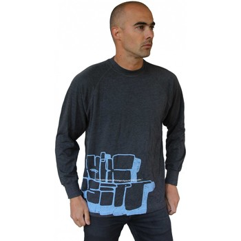 Vêtements Homme T-shirts manches longues Hixsept Tee-shirt graffiti Collector  Throw up Gris