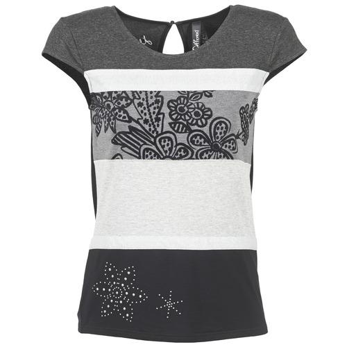 T-shirts & Polos Desigual KITEPI Blanc / Gris / Noir 350x350