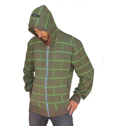 Vêtements Homme Sweats Contre Courant Hoodie Gilet  Green Wall Zipper Vert