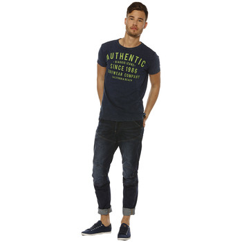 T-shirts manches courtes Biaggio T-shirt Homme - LENEL - DENIM/PRINT GREEN FLUO