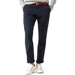 Vêtements Homme Pantalons 5 poches Tommy Hilfiger DENTON CHINO ORG STR TWILL Bleu