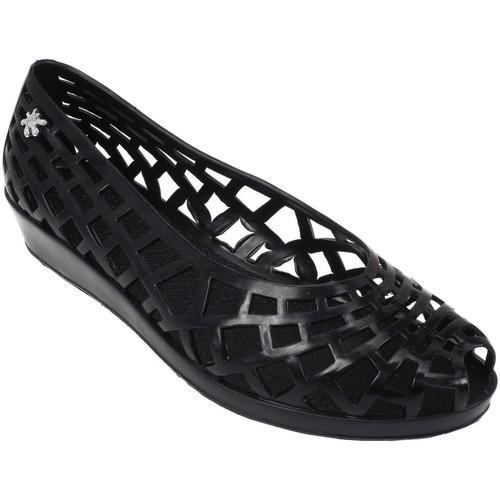 Méduse Javana noir lady Noir - Chaussures Ballerines Femme