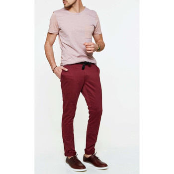 Vêtements Homme Chinos / Carrots Eleven Paris Pantalon Slim Fit Chino Win Chaplin Co  Bordeaux Bordeaux