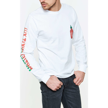 Vêtements Homme T-shirts manches longues Wasted Tee Shirt  Blanc Homme Blanc