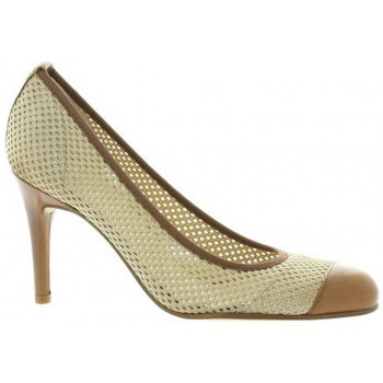 elizabeth stuart escarpins tissu camel chaussures escarpins femme 77 40. Black Bedroom Furniture Sets. Home Design Ideas