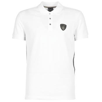 Vêtements Homme Polos manches courtes Emporio Armani EA7 ONTRAFOL Blanc