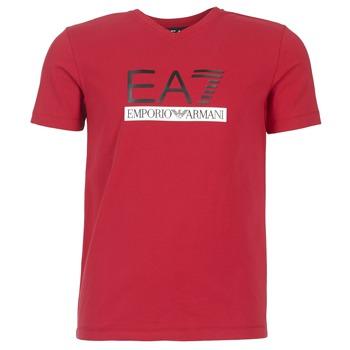 Vêtements Homme T-shirts manches courtes Emporio Armani EA7 MOFRAGO Rouge