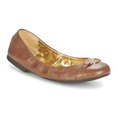 Chaussures Femme Ballerines / babies Lauren Ralph Lauren BETHENNY Cognac