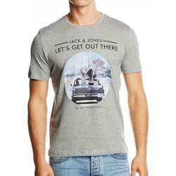 Vêtements Homme T-shirts manches courtes Jack & Jones T-Shirt JACK AND JONES Road Trip Gris