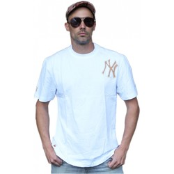 Vêtements Homme T-shirts manches courtes Majestic NY New York Yankees MLB Tee-shirt White Superbe finition ! Blanc
