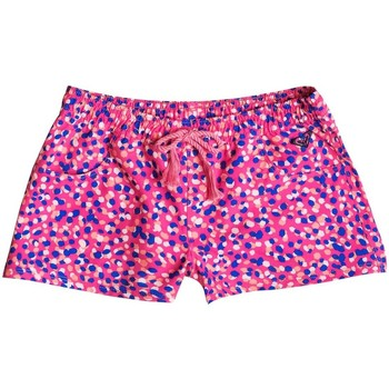 Vêtements Fille Maillots / Shorts de bain Roxy Boardshort pour fille Fun animal Rose