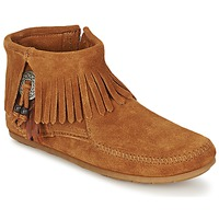 Low boots Minnetonka CONCHO FEATHER SIDE ZIP BOOT