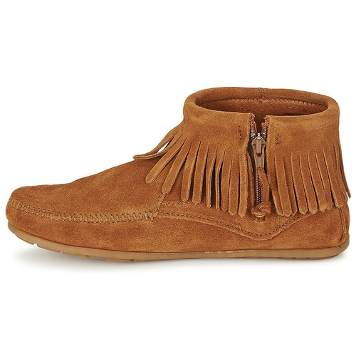 Side Concho Boot Marron Minnetonka Boots Femme Feather Zip oCedxB