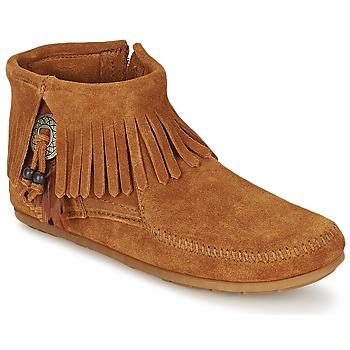 Bottines / Boots Minnetonka CONCHO FEATHER SIDE ZIP BOOT Marron 350x350