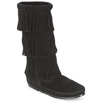 Bottes ville Minnetonka CALF HI 3 LAYER FRINGE BOOT