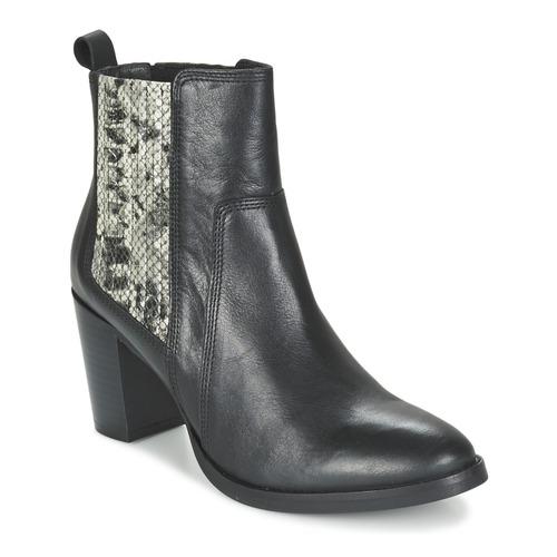 Bottines / Boots Betty London FLARA Noir / Python 350x350