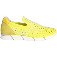 Chaussures Femme Slips on Florens F1330 Slip-on Chaussures Femme Jaune Jaune